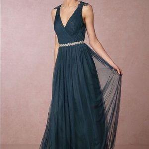 NWT Watters&Watters Pippa Dress BHLDN Size 4 Navy